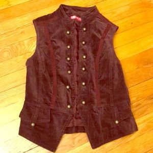 Aprior (Escada brand) Purple Velvet Vest